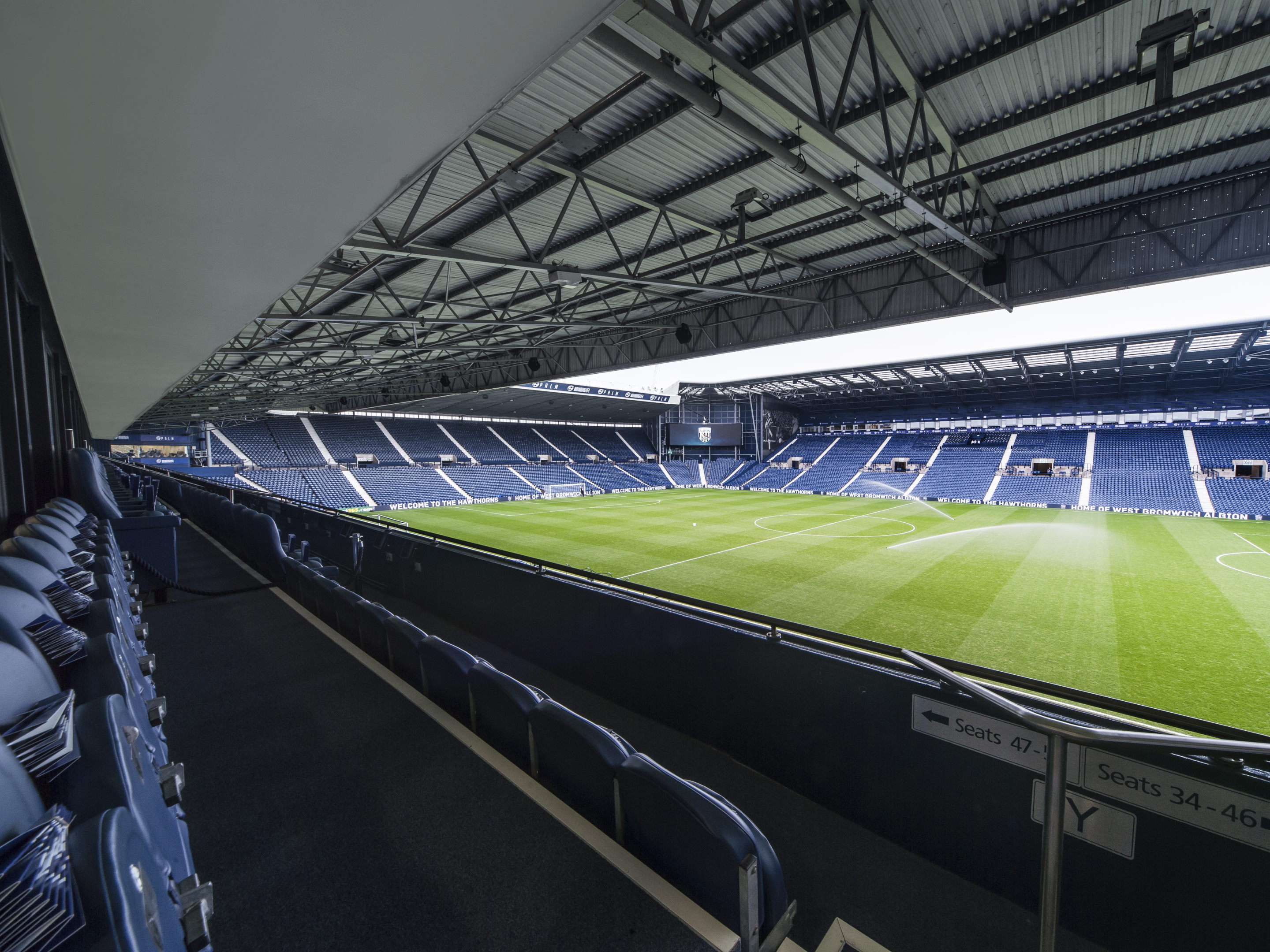 East Stand Executive Box view from seat