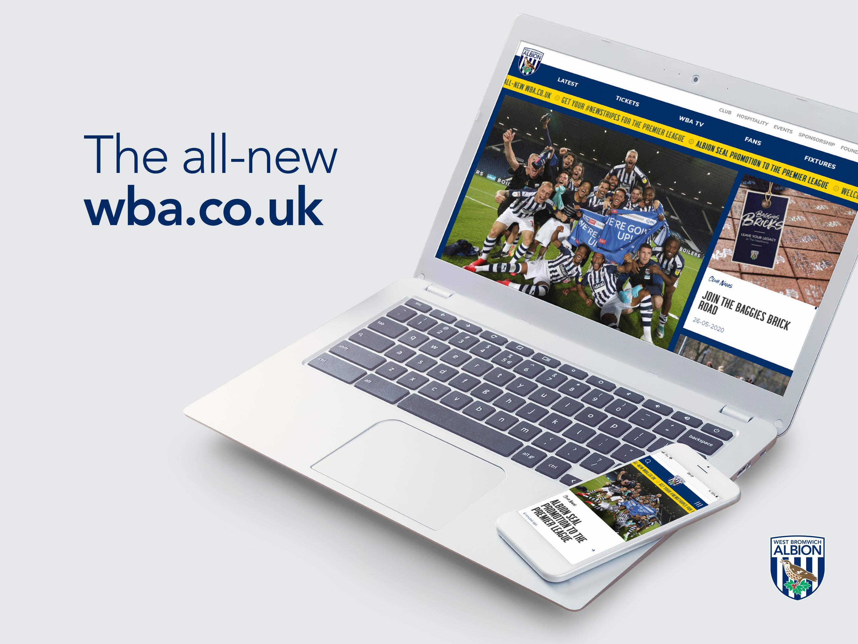 The new wba.co.uk