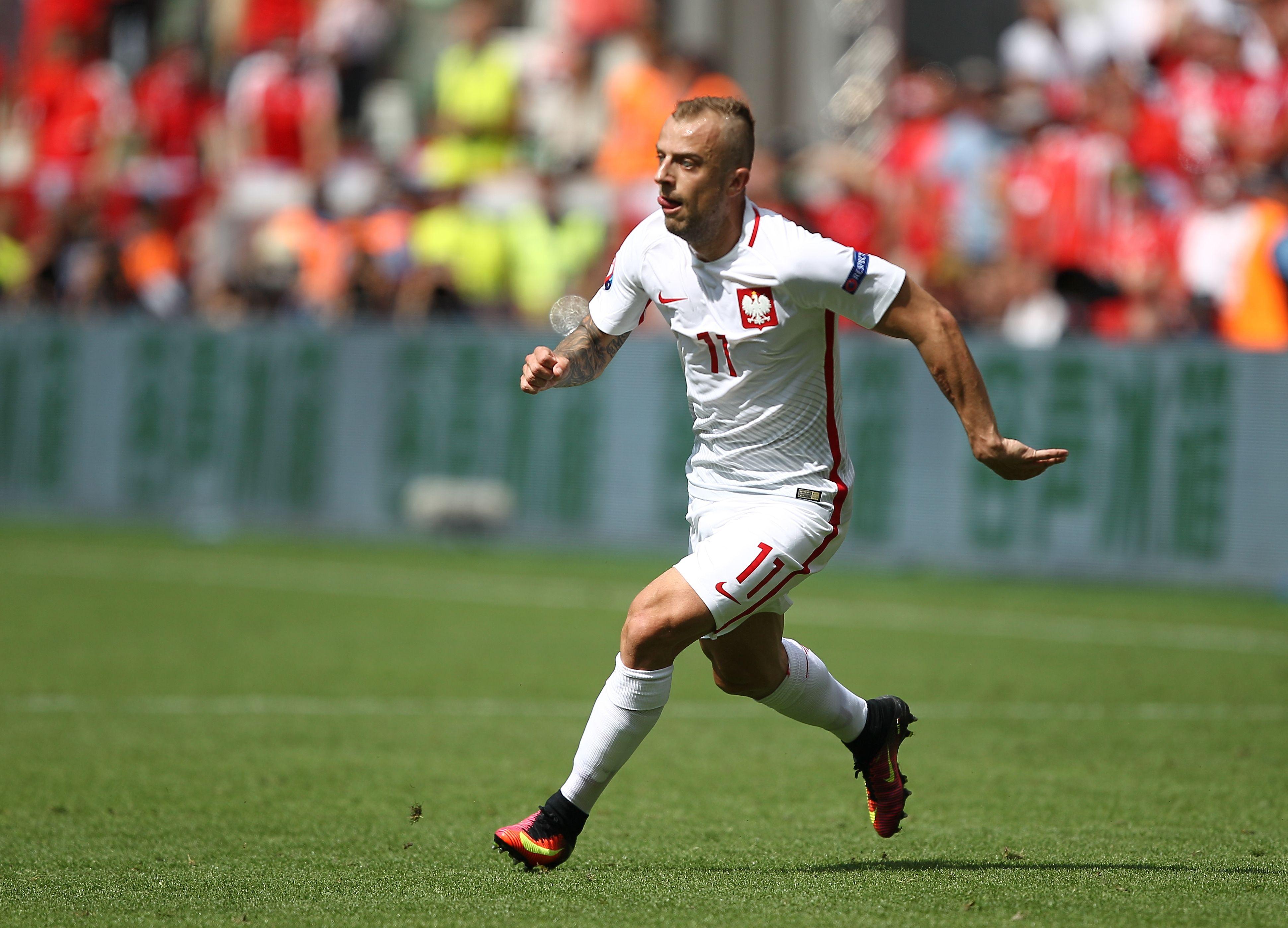 Kamil Grosicki in action for Poland