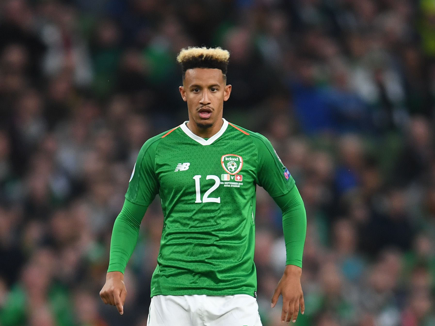 Callum Robinson in action for Ireland