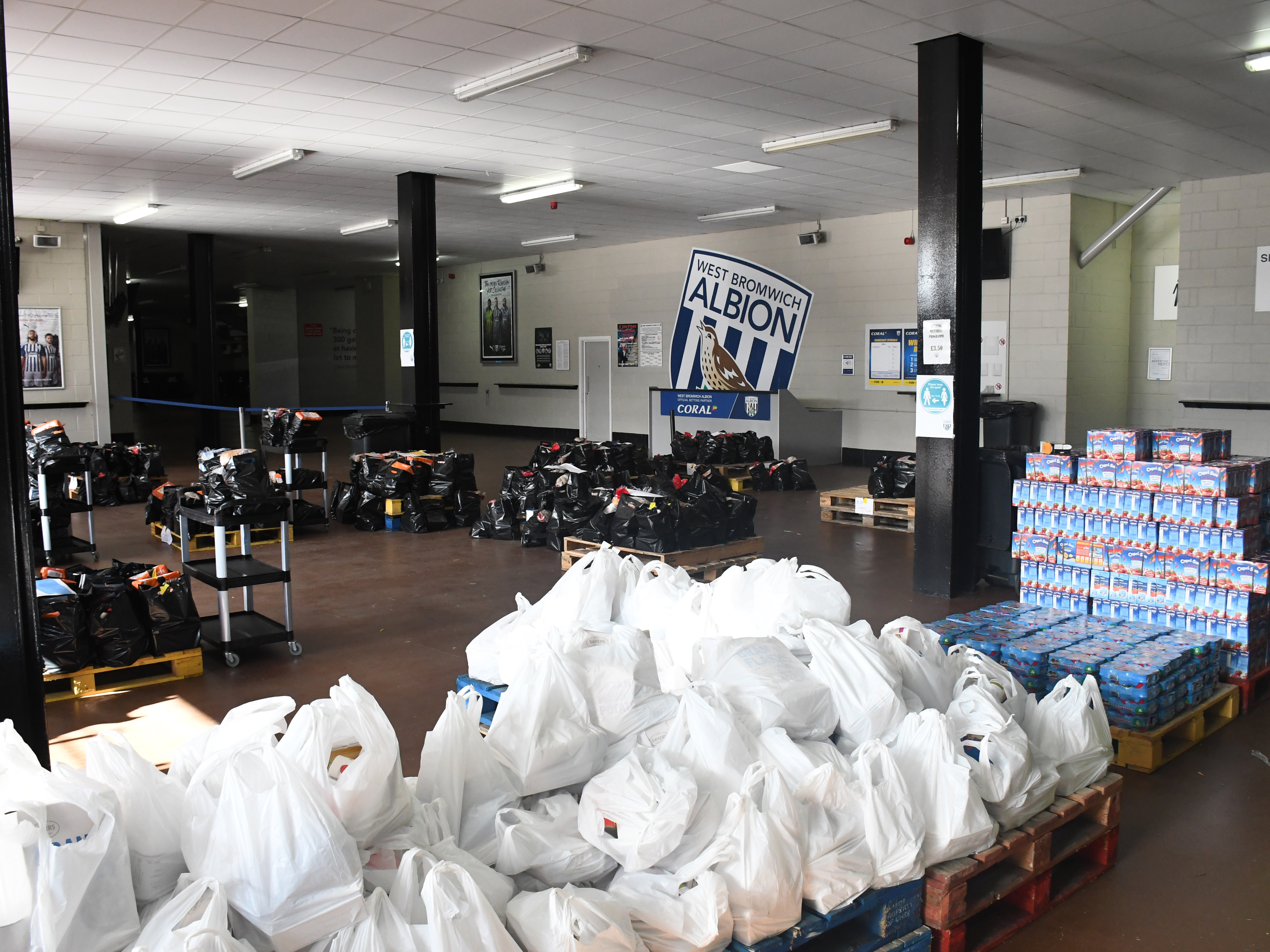 Food packages at The Hawthorns
