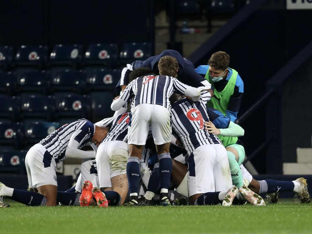 Albion's Under-18s came from behind to beat Everton 2-1 in the FA Youth Cup on Tuesday evening