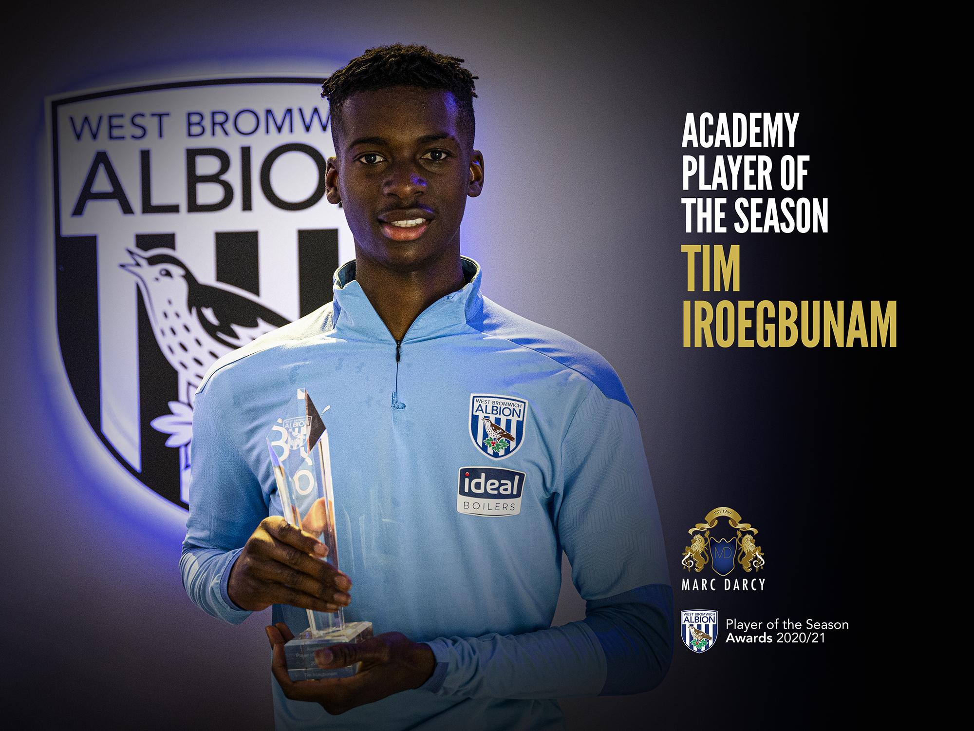Tim Iroegbunam Academy Player of the Year