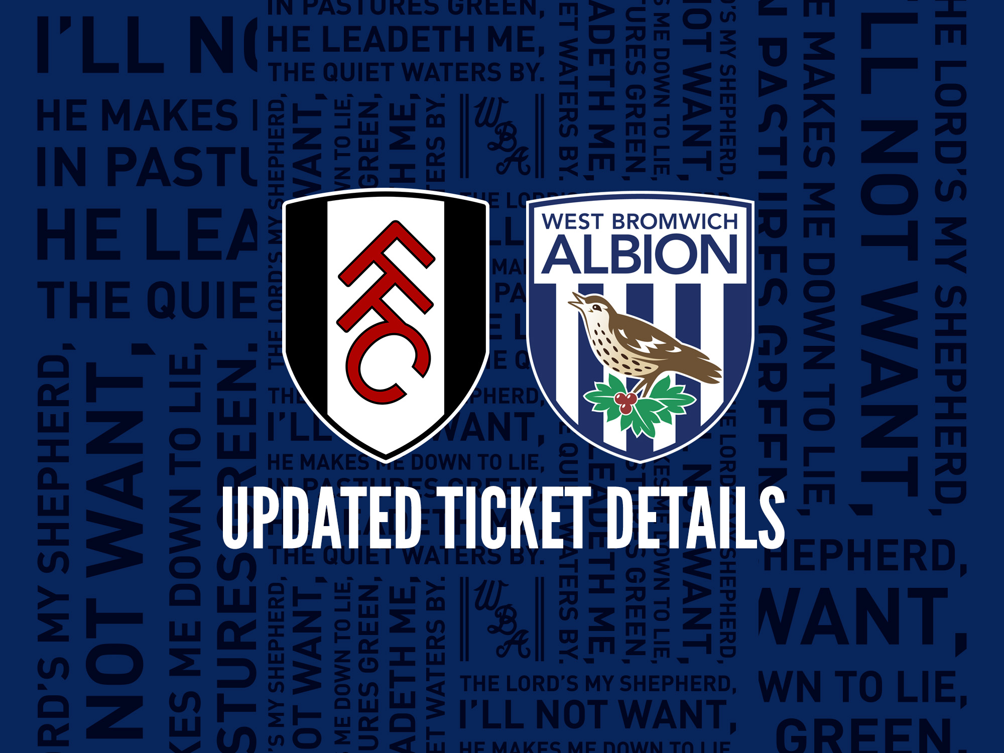 Updated Fulham tickets