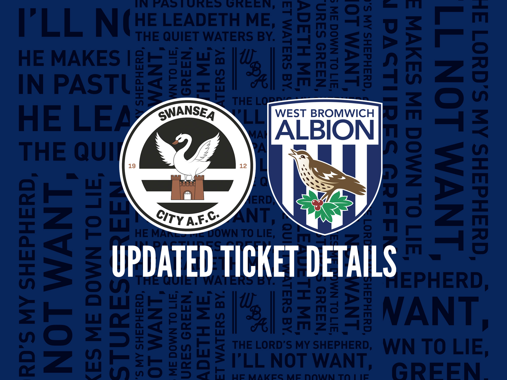 All the latest ticket information for our trip to Swansea City