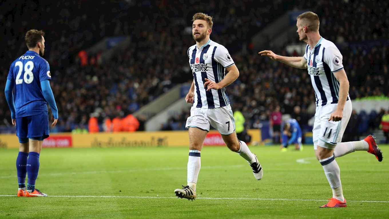 James Morrison and Chris Brunt celebrate a goal in last year's game