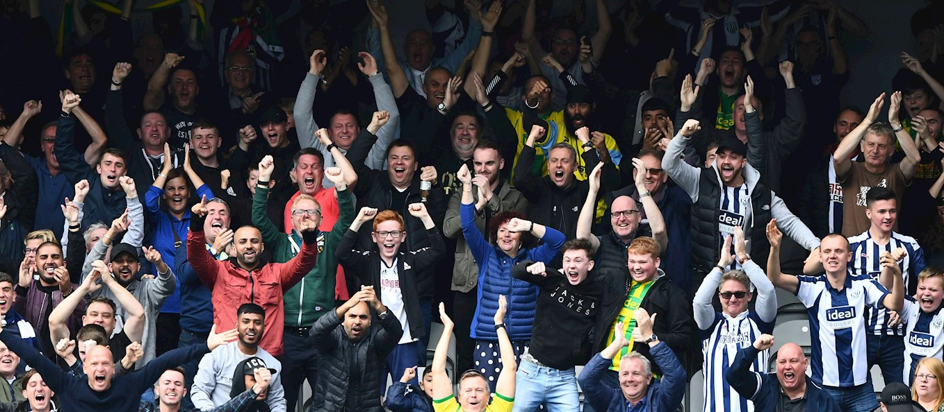 Albion supporters celebrate goal.jpg